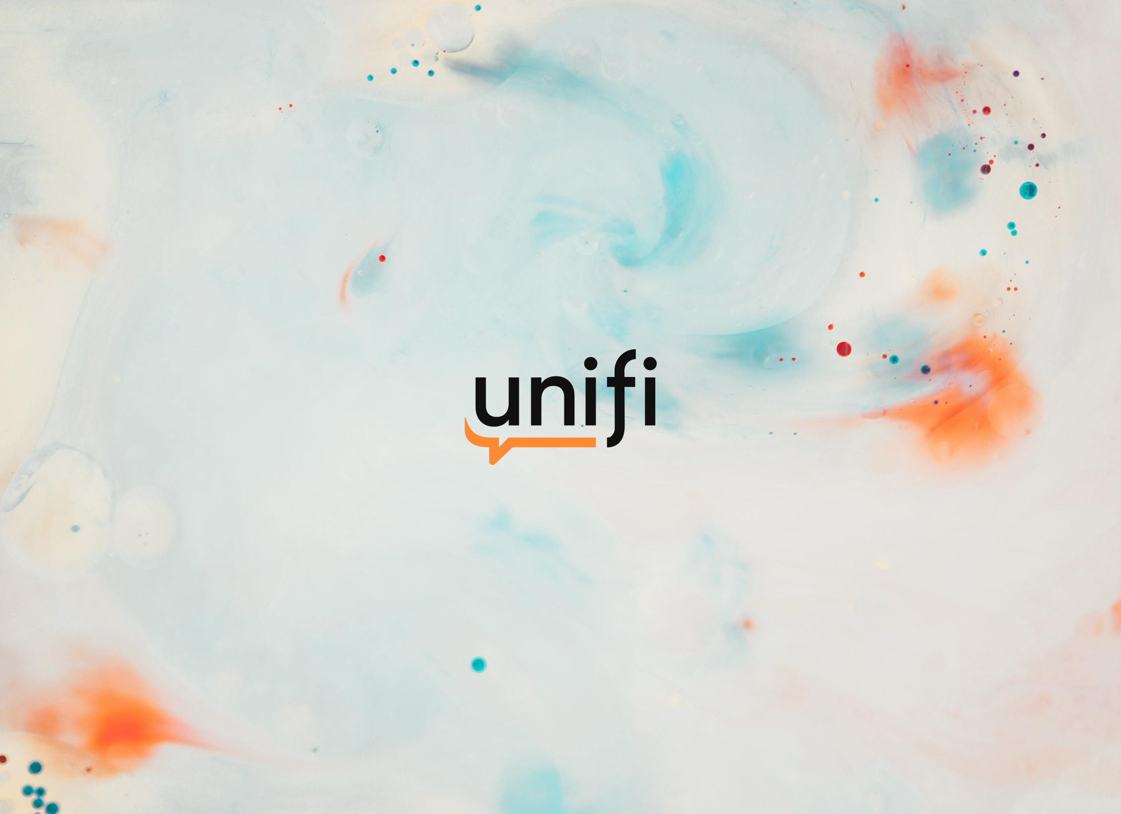 Unifin uusi logo.