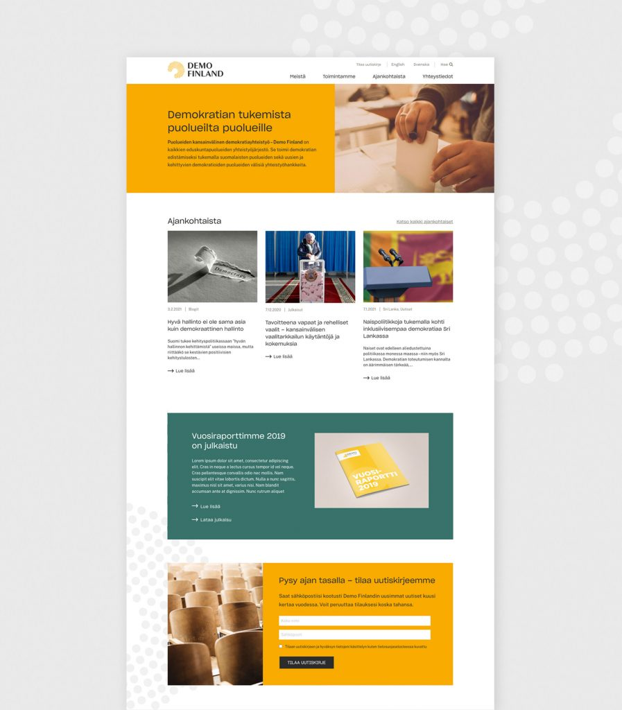 Demo Finlandin uudet verkkosivut.