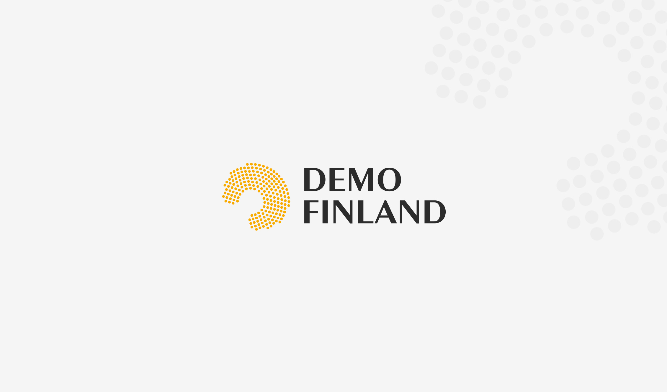 Demo Finlandin uusi logo.